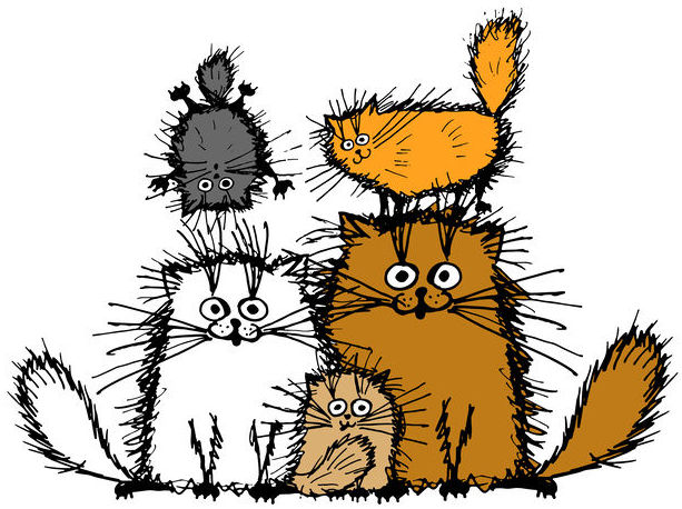 cartoon cat family all ages